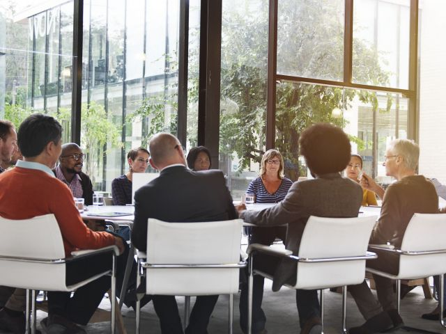 Group of diverse people having a business meeting